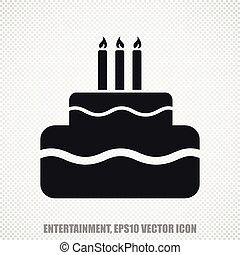 Entertainment, vector Cake icon. Modern flat design.