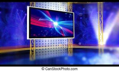 Entertainment_1corner - Virtual set studio for green footage...