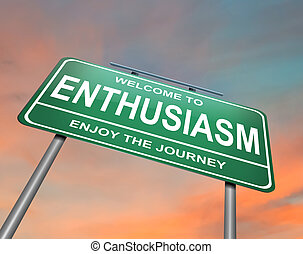 Enthusiasm concept. - Illustration depicting a green ...