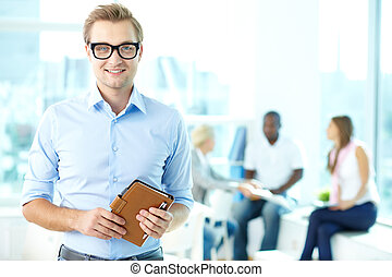 Enthusiastic businessman - Portrait of an enthusiastic...