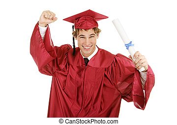 Enthusiastic Graduate - Handsome enthusiastic young graduate...