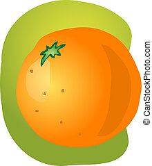 entier, orange, illustration
