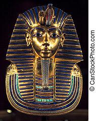 entierro, máscara, tutankhamun's