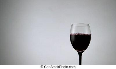 entiers, alcool, boisson, vin, blanc, vue, toile de fond,...