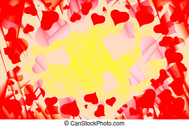 entiers, amour, copyspace, cadre, valentin, s, hearts., carte, fond, résumé, jour