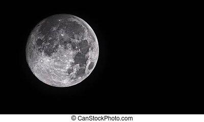 entiers, ciel, lune, arrière-plan noir, nuit