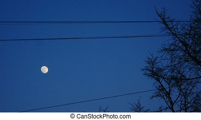 entiers, ciel, lune