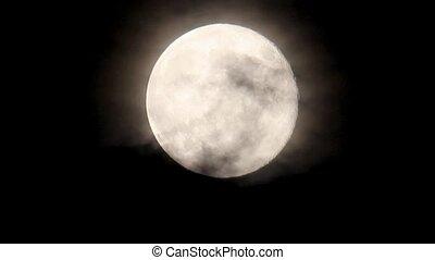 entiers, détail, lune