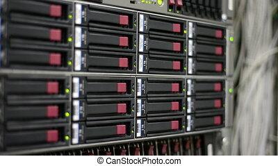 entiers, données, clignotant, serveurs