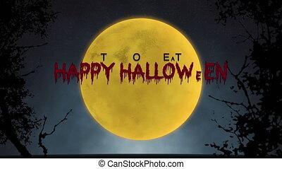 entiers, halloween, lune