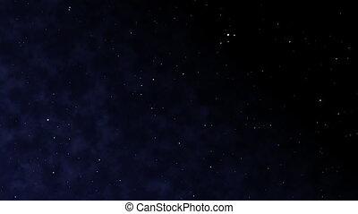 entiers, hd, étoiles, gases., 3d