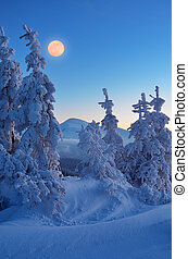 entiers, hiver, lune