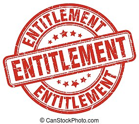 entitlement red grunge stamp