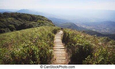 entlang, chiang, bloß, spur, mai, natur, edge., thailand