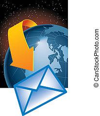 entoure, email, la terre