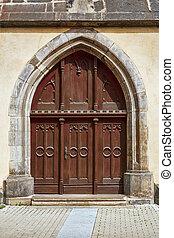 entrée, église