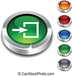 entrée, button., 3d