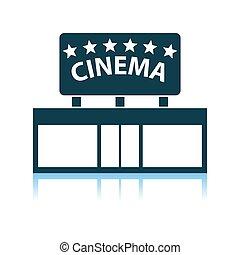 entrée, cinéma, icône