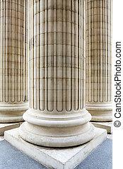 entrée, colonnes