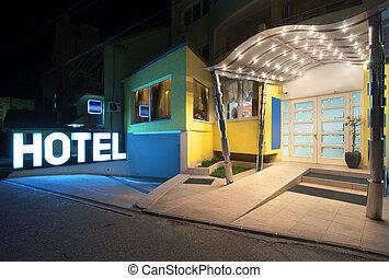 entrée, hôtel