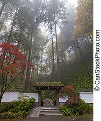 entrée, jardin japonais