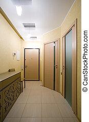 entrée, moderne, salle, appartements