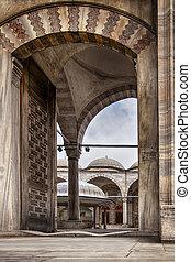 entrée, mosquée