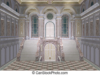 entrée, palais