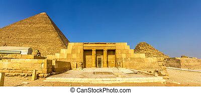 entrée, seshemnufer, egypte, mastaba, -, iv, giza