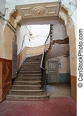 entrée,  staricase, salle