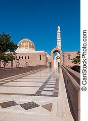 entrée, sultan, oman, hommes, mosquée, qaboos, muscat, ...