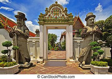 entrée, wat, thaï