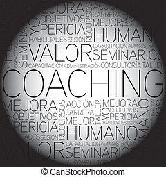 entraînement, concept, mots, t, apparenté