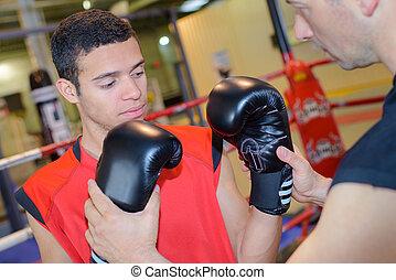entraîneur, boxe