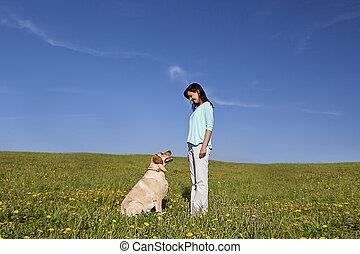 entraîneur, chien