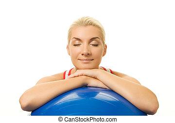 entraîneur, délassant, après, exercice forme physique