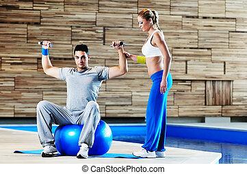 entraîneur, fitness, personnel