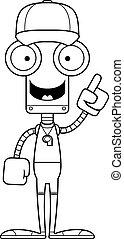 entraîneur, idée, robot, dessin animé