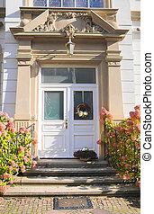 Entrace door of Wilhelminian style in Wiesbaden, Hesse,...
