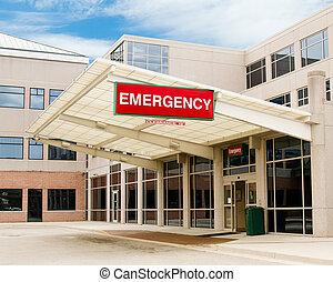 entrada, a, sala de emergencia