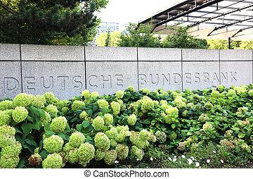 entrada, alemán, federal, banco