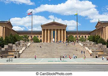 entrada, arte, estados unidos de américa, pensilvania, museo, -, filadelfia