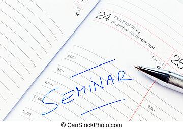 entrada, calendar:, seminario