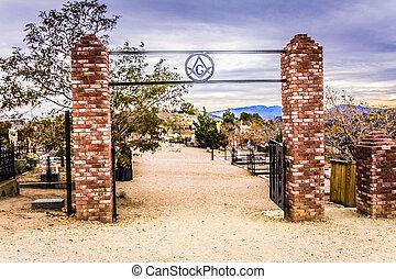 entrada, cemitério