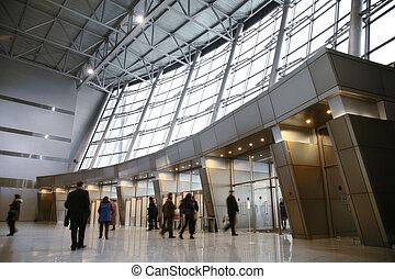 entrada, centro, empresa / negocio