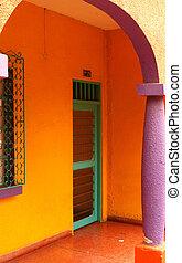 entrada, colorido