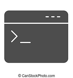 entrada, comando, design., blanco, concepto, aplicación, ventana, icon., sólido, artículo, graphics., móvil, fondo., pictogram, web browser, programa, vector, consola, señal, estilo, símbolo, glyph