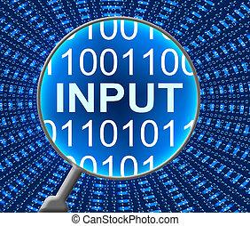 entrada, computadora, datos, teclado
