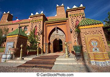 entrada, de, um, riad, iin, marrocos