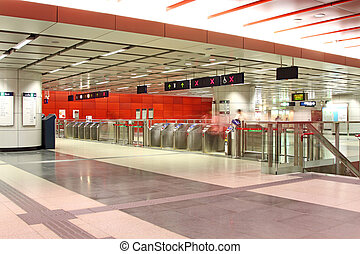 entrada, de, un, estación de tren